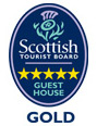 Guest House awarded 5 stars Gold under the Scottish Tourist