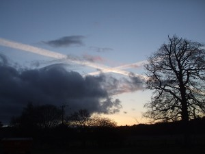 Saltire over Letham House fields