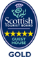 Guest House awarded 5 stars Gold under the Scottish Tourist Board grading scheme